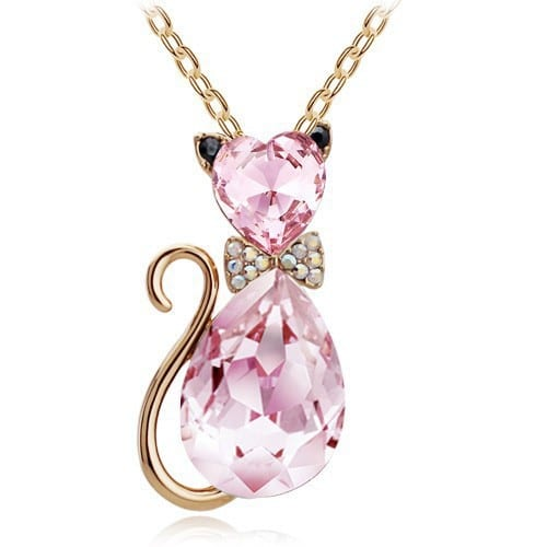 Crystal cat necklace cool gear spot gold crystal aloadofball Gallery