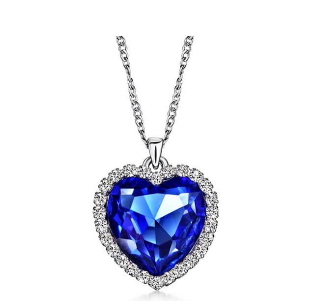 Titanic heart of the ocean necklace heart of the ocean necklace aloadofball Image collections