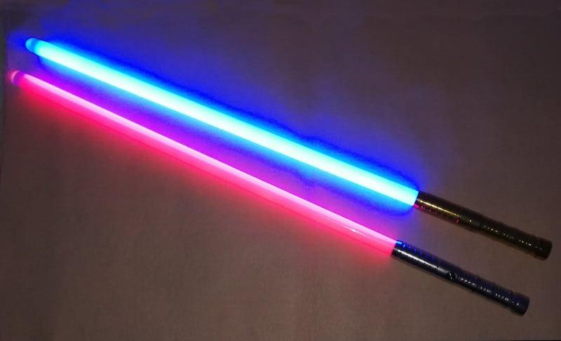 2 sabers in dark