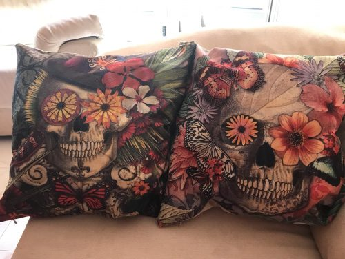 Skull Cushion Pillow Covers photo review