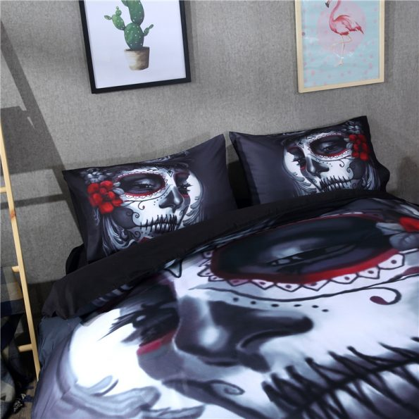 Bride Skull Bedding Set 1